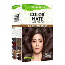 Color Mate Hair Color Natural Brown( Pack of 3)