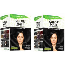 Color Mate Hair Color Natural Black( Pack of 2)