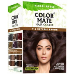 Color Mate Hair Color Natural Brown ( Pack of 5)