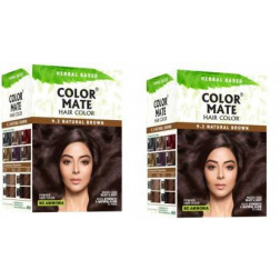 Color Mate Hair Color Natural Brown (Pack of 2)