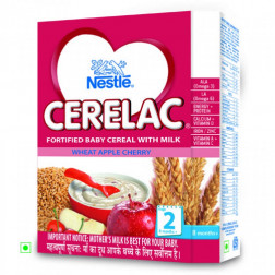 NESTLE CERALAC WHEAT APPLE CHERRY(STAGE 2) 300GMS