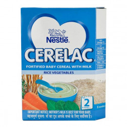 NESTLE CERELAC RICE VEGETABLES ( STAGE 2)